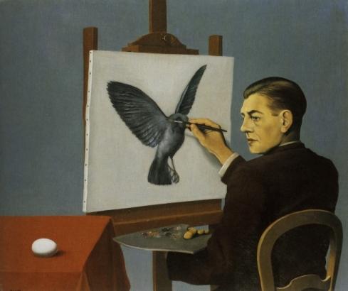 Rene Magritte - La Clairvoyance 1936_h410